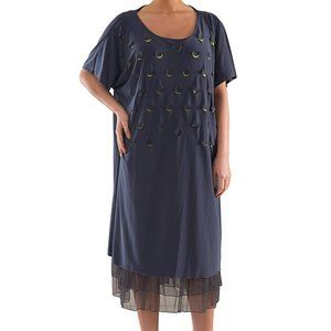 Plus Size Knit Dress with Laser Cut-Outs